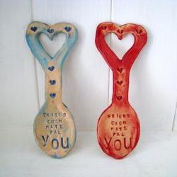 Friend, Mate, Chum, Bud, YOU - Ceramic Lovespoon. Made in Wales, UK